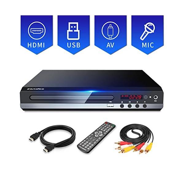 Sandoo DVD Player, All Region DVD CD/Disc Player For TV With HDMI/AV output, HDMI/AV...