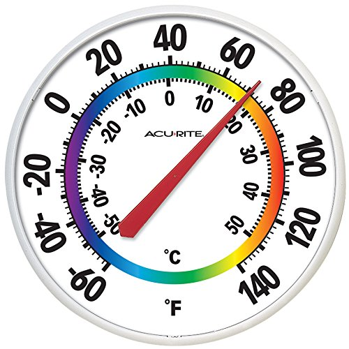 AcuRite Indoor/Outdoor Multiple Colors Thermometer 02424SBL by acurite