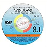 "WINDOWS 8.1 ANY Version 64 Bit ""HOME"" - Repair, Recovery, Restore, Re Install, Reinstall, Re-install & Reboot Fix Boot Disk DVD"