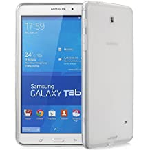 Fosmon® Samsung Galaxy Tab 4 8.0 Case (DURA-FRO) Slim-Fit Flexible TPU Gel Case Cover Shell for Samsung Galaxy Tab 4 (Tablet) 8.0 inches - Fosmon Retail Packaging (Clear)