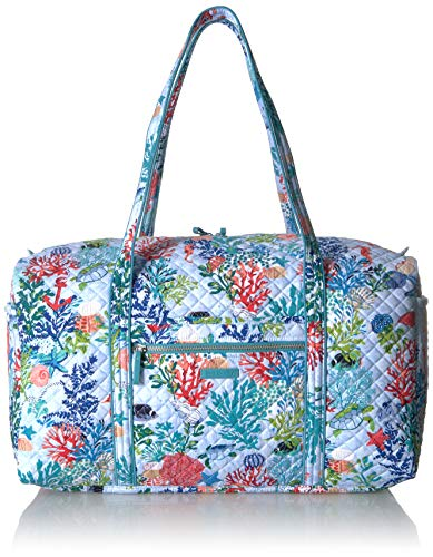 Vera Bradley Iconic Large Travel Duffel, Signature Cotton, Shore Thing