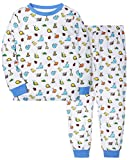 Kids Boys Girls Pajamas Set Children Sleepwear 100% Cotton (Insect, 7-8Y)