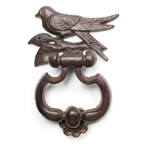 Abbott Collection Cast Iron Bird Door Knocker, Brown (Knocker Bird Door)