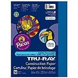 "Tru-Ray Heavyweight Construction Paper, Blue,  9"" x 12"", 50 Sheets"