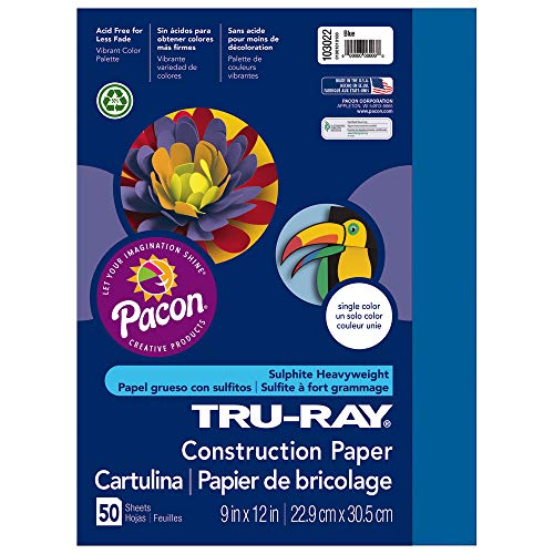 Tru-Ray Heavyweight Construction Paper, Blue