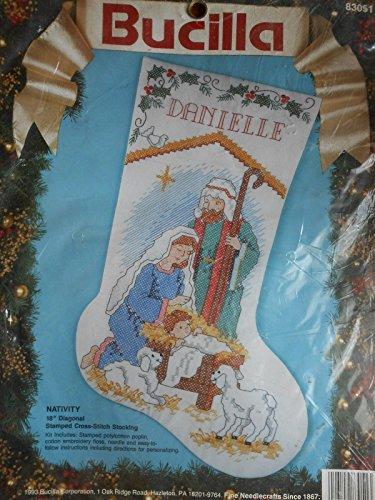 Nativity Stocking Stamped Cross Stitch Kit 83051-18