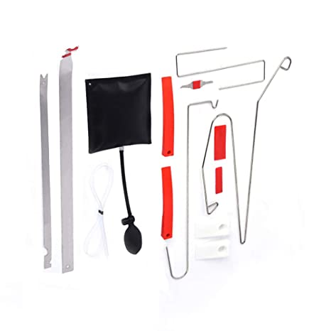 BARHAR 12Pc Car Door Key Lock Out Emergency Opening Unlock Tools Kit + Air  Pump + Wedge