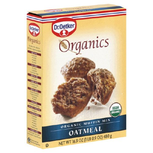 [Dr. Oetker Organics Muffin Mix, Oatmeal, 16.9-Ounce Boxes (Pack of 12)] (Oatmeal Muffin)