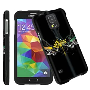 [ArmorXtreme] Samsung Galaxy S5 Total Protection Black Phone Cover Hard Case (Guitar Wing)