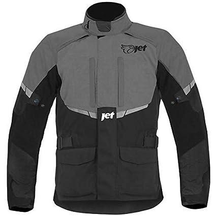 JET Chaqueta Moto Hombre Textil Impermeable con Armadura Tourer (XL (EU 52-54), Gris)