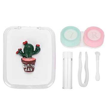 Cactus Travel Glasses Contact Lenses Box Contact Lens Case For Eyes Care Kit Holder Container Eyewear Accessories