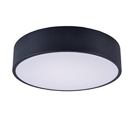 cheap for discount c5c90 bb842 Black Round Flush Mount,13.8-inch Modern LED Ceiling Light Fixture with  3500K Warm White for Hallway,Bedroom,Foyer,Living Room,18W(1620LM) by Lanros