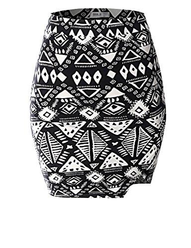 SJSP Short Fashion Unbalanced PRINT28 Maxi Skirt,L