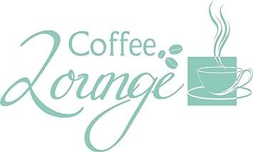 GRAZDesign Wandtattoo Küche Sprüche Coffee Lounge - Wandsticker Küche  Sprüche - Wandtattoo Küche günstig Kaffee - Wandtattoo Küche Kaffeetasse ...