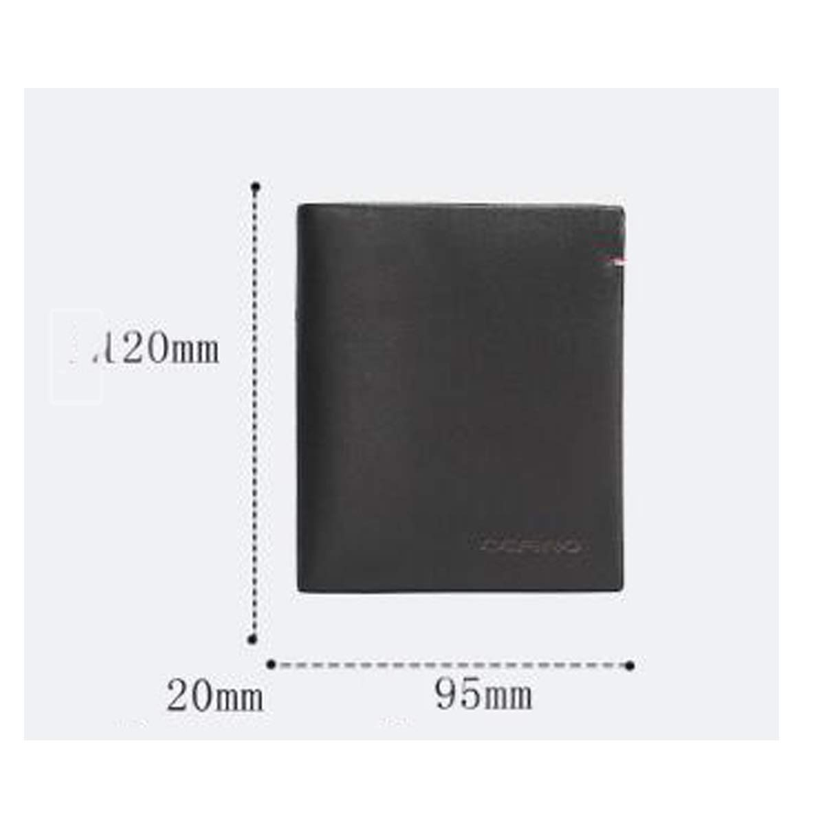 Kalmar RFID Travel Wallet RFID Blocking Slim Bifold Genuine Leather Minimalist Front Pocket Wallets for Men with Money Clip Extra Capacity Travel Wallet Color : Black, Size : 3.74.7 inches