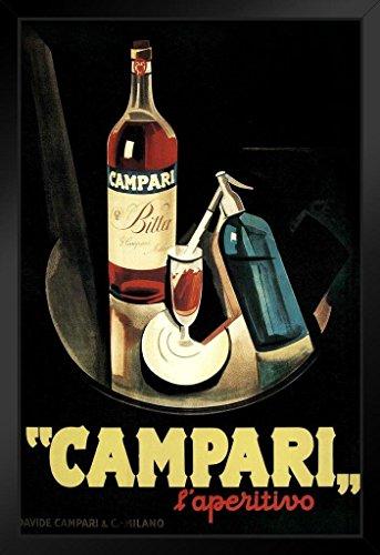 Marcello Nizzoli Campari Laperitivo Alcohol Liqueur Vintage Advertising Art Print Framed Poster 14x20 inch