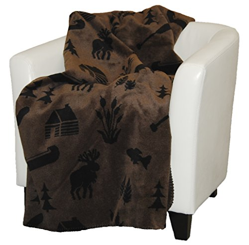 Denali Home Collection by Mont Double-Sided Reversible Throw, 60 by 70-Inch, Taupe (Denali Throw Blankets)