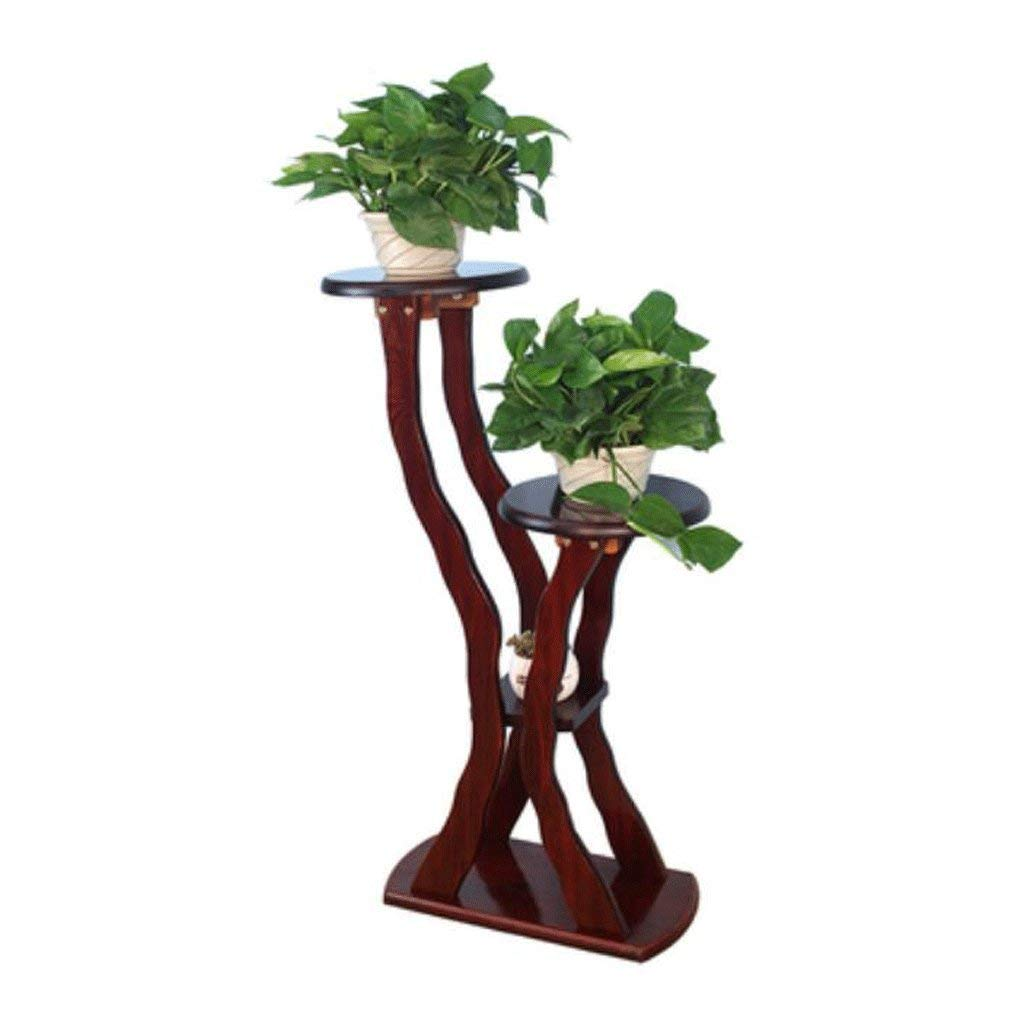 C Gifts & Decor Plant Stand Shelf Flower Racks Solid Wood Multi-Storey Floor Flowers Frame Flowers Woods Balcony Balcony Living Room Interior Radish (color   G)