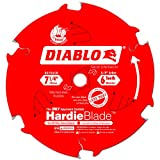 Freud Diablo D0706CH 7-1/4-Inch by 6-Tooth Fiber Cement Blade TCG 5/8-Inch Arbor Perma-Shield Coated
