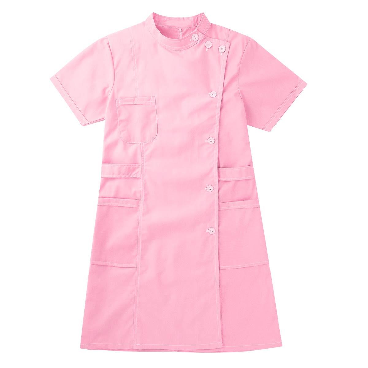 TiaoBug Unisex Batas Laboral de Trabajo para Peluquer/ía Est/ética de SPA Uniforme Sanitario Empleados Profesional Casaca con Bolsillo Disfraces Adultos de M/édico Enfermera