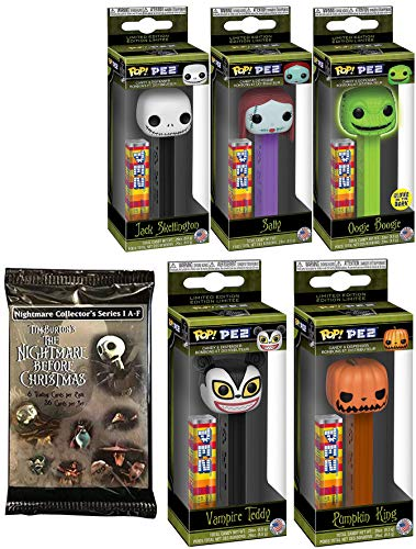 Heads Hollowed World Nightmare Pop PEZ Figures Sally Jack Skellington Oogie Boogie Vampire Teddy Pumpkin King Collection Before Christmas Halloweentown Characters + Trading Cards Gothic Holiday