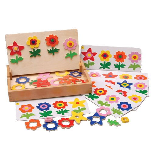 Constructive Playthings Magnetic Match & Make Flowers 43 pc. Set