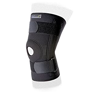 PhysioRoom Neoprene Stabilising Knee Brace - Skiing Knee Support Brace with Open Knee & Fully Adjustable Strap for… 36