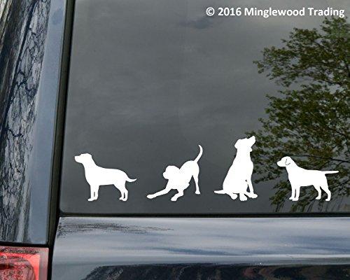 Sticker Chocolate Labrador (Minglewood Trading - Yellow - Set of Four (4) Labrador Retreiver Vinyl Stickers - Lab - Dog Puppy - Die Cut Decal - 20 Color Options)
