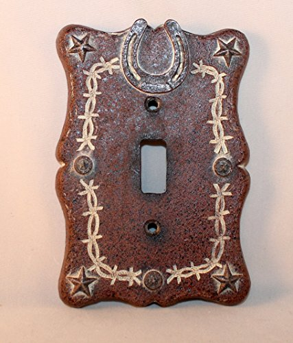 Barbwire Horseshoe Single Plate Cover (Western Light Switch Covers)
