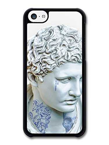 Retro Vintage Design with Classic Art Statue Tattoos Rose Skull and Dagger case for iPhone 5C