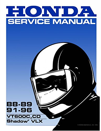 Honda Shadow VT600C, CD, VLX, 1988-1996, Repair Service Manual CD/DVD/PDF (Vt600c Shadow)