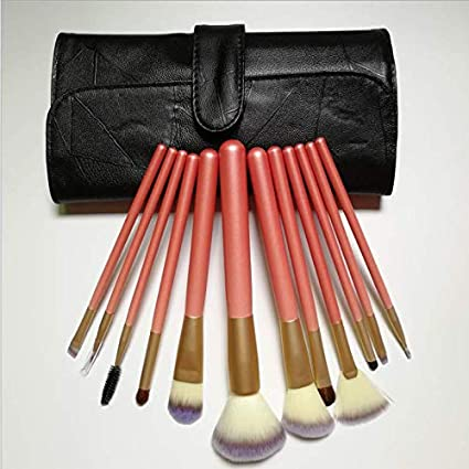 Nicute - Juego de brochas de maquillaje (12 unidades, incluye estuche, brochas de maquillaje, brochas de maquillaje, con estuche y herramientas de maquillaje: Amazon.es: Belleza