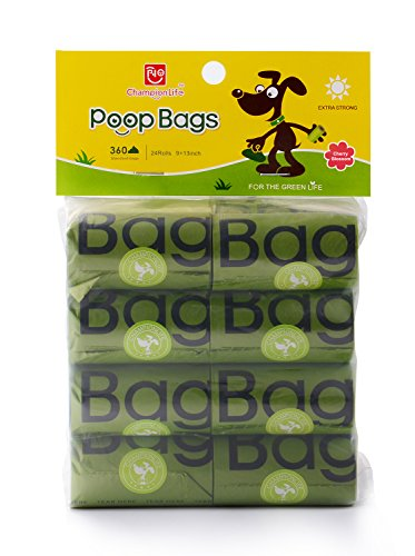 Bio Bag Refills - Championlife 360-Counts Dog Waste Bags, Cherry-Scented Poop Bags, 24 Refill Rolls