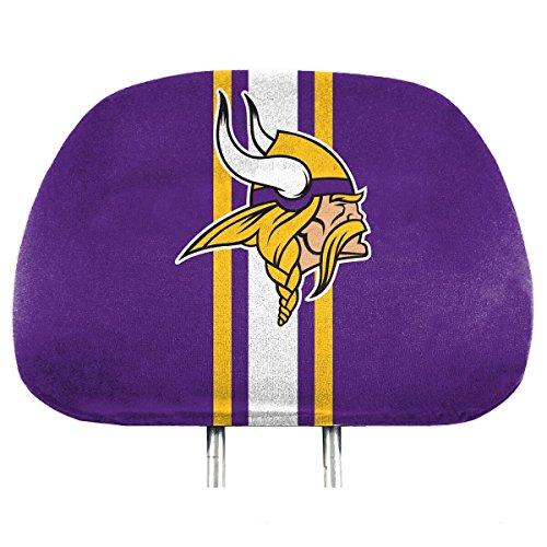 NFL Minnesota Vikings Full-Print Head Rest Covers, 2-Pack ()