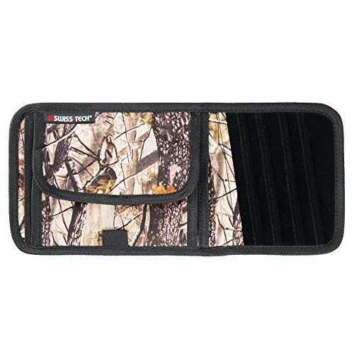 Swiss+Tech Woodland Camouflage Visor Travel Organizer with CD/DVD Holder for Cars/Trucks/SUVs/RVs - Deep Forest/Black