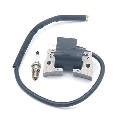 SeekPro Bobina de Encendido con bujía para cortacésped Robin Subaru EY15 EY153 EY152B Partes 281-