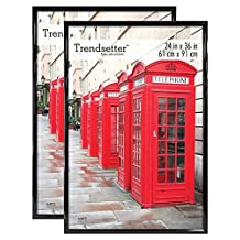 MCS Trendsetter Poster Frame (2 Pack), 24 X 36-Inch, Black