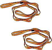 Pwigs Pretty&Popular Daisy Chain Rope 2 Pcs Looped Strong Straps 23 KN Climbing Lanyard Nylon Daisy Chains