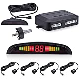 Toogoo 4 Parking nsors LCD LED Display Car Rever Radar System Alarm Kit Black