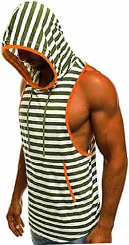 WAWAYA Men Crewneck Athletic Sleeveless Camo Print Casual Tank Tops T-Shirts