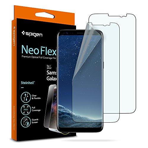 Spigen NeoFlex Galaxy S8 Screen Protector [ Flexible Film ] [ Case Friendly ] for Samsung Galaxy S8 (2 Pack)