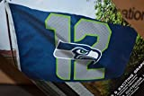 Seattle Seahawks 12th Man Flag size 3×5 feet (light Blue) For Sale