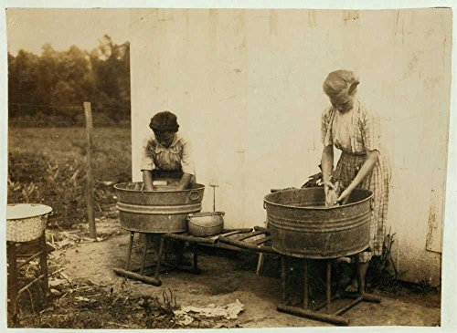1916 Photo Zelina & Florence Richards, 12 and 13 years old doing the family wash. See 4409. Location: Nicholas County, Kentucky / Lewis W. Hine. Location: Kentucky, Nicholas - Kentucky Florence Map Of