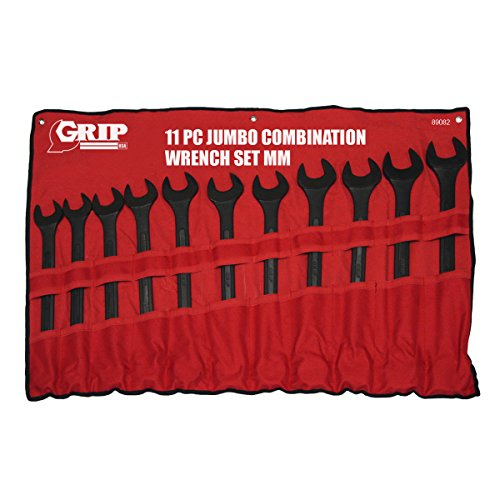 Grip 11 pc Jumbo Combo Wrench Set MM
