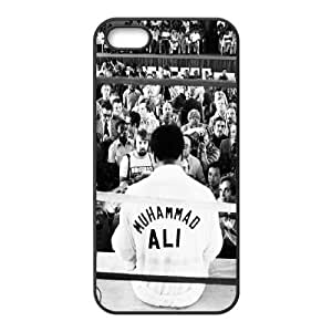 HQYDIY Custom Muhammad Ali Plastic Case, DIY Muhammad Ali Hard Cell Phone Case for Iphone 5,5s