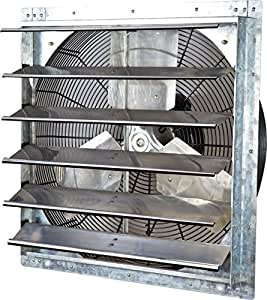 """Iliving ILG8SF24V Wall-Mounted Variable Speed Shutter Exhaust Fan, 24"""""""