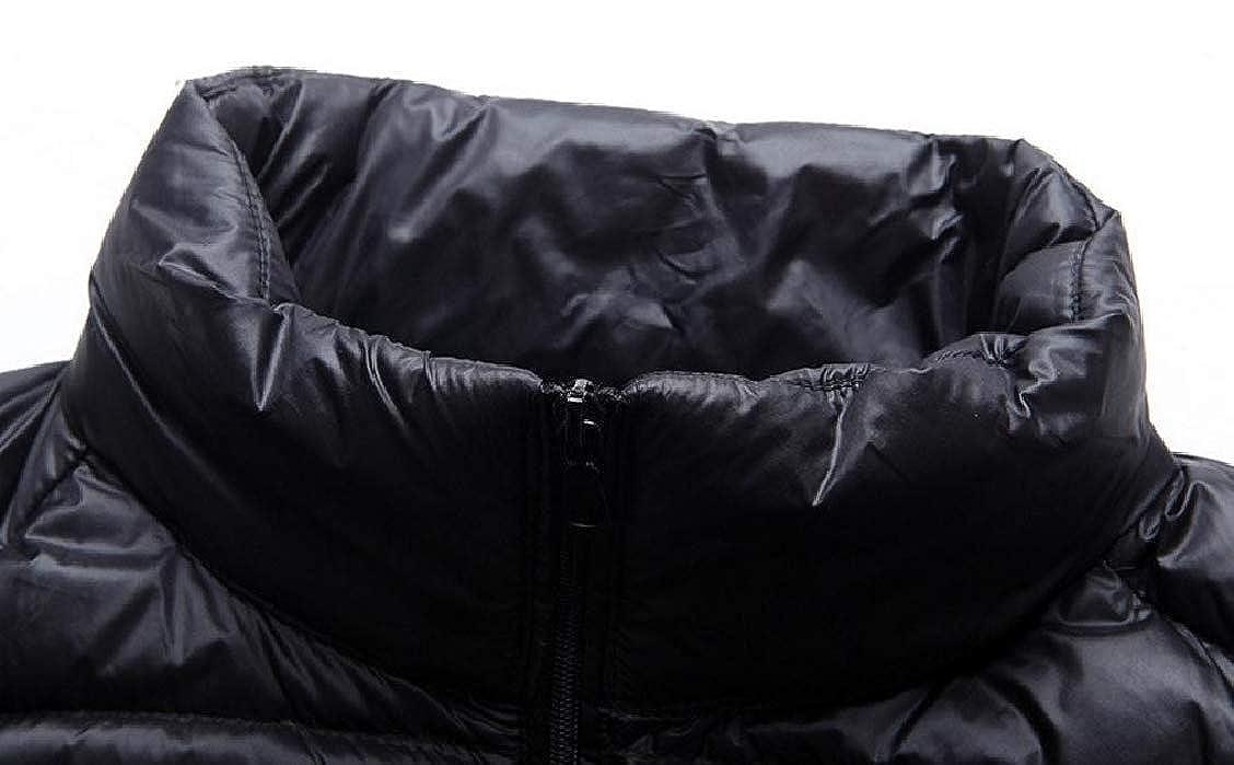 Fieer Mens Regular-Fit Winter Packable Stand up Collar Sleeveless Vests Zip-up Down Coat