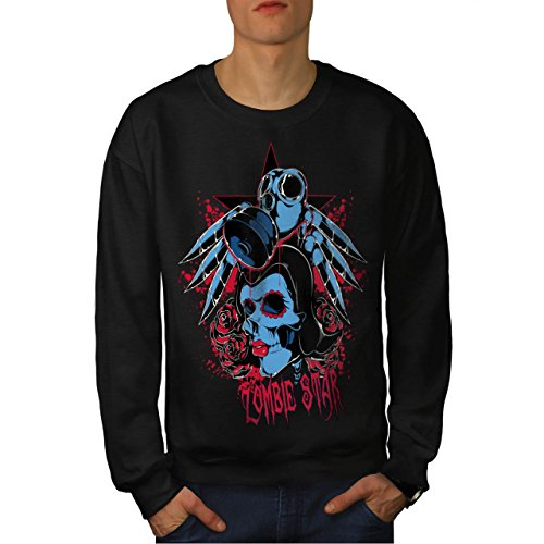 Evil Zombie Star Rise Nightmare Men NEW S Sweatshirt | Wellcoda (Love Bite Vampire Costume)