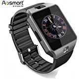 Aosmart Bluetooth Smart Watch with Camera, DZ09 Smartwatch for Android Smartphones (Black)