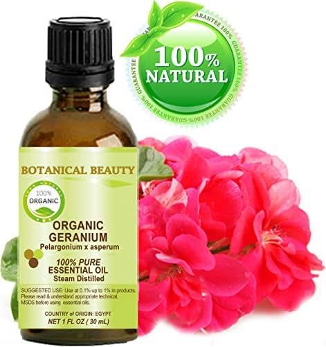 ORGANIC GERANIUM (EGYPTIAN) Essential Oil 100% Pure/ Undiluted/ Steam Distilled. 1 Fl.oz.- 30 ml.